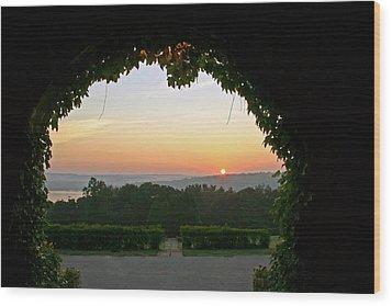 Framed Sunrise Wood Print