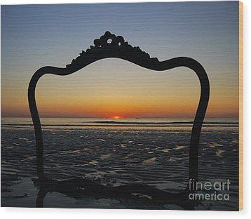 Framed Sunrise Wood Print by Nancie DeMellia