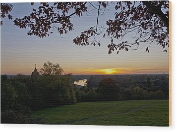 Wood Print featuring the photograph Framed Sunset by Maj Seda