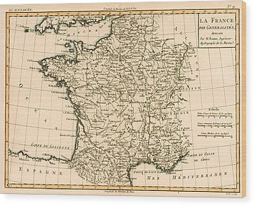 France By Regions Wood Print by Guillaume Raynal