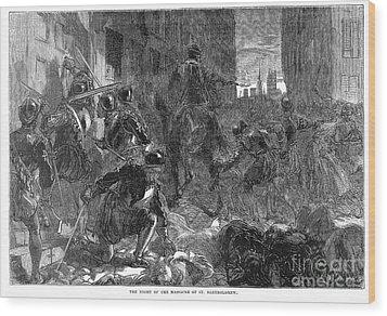 France: Massacre, 1572 Wood Print by Granger