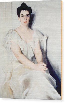 Frances Folsom Cleveland 1864-1947 Wood Print by Everett