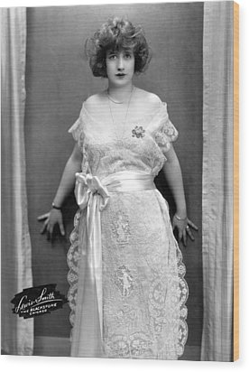 Francine Larrimore, Publicity Shot Wood Print by Everett