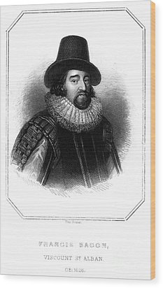 Francis Bacon (1561-1626) Wood Print by Granger