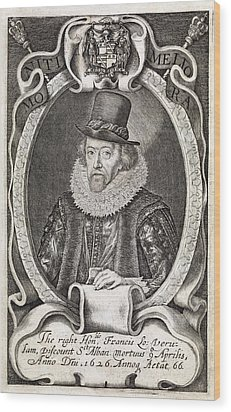 Francis Bacon, English Philosopher Wood Print by Middle Temple Library