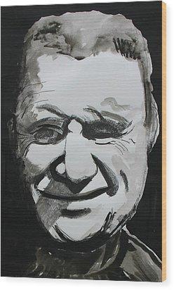 Francis Bacon Study Wood Print by Gerard Dillon