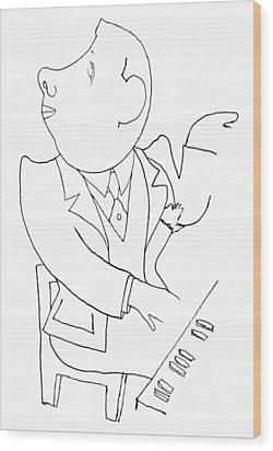 Francis Poulenc (1899-1963) Wood Print by Granger