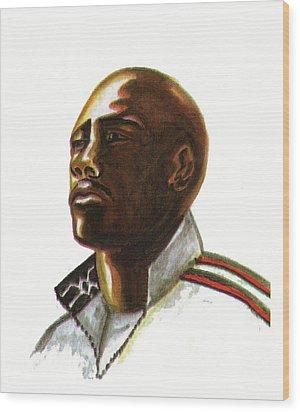 Franckie Fredericks Wood Print by Emmanuel Baliyanga