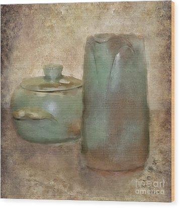 Frankhoma Pottery Wood Print by Betty LaRue