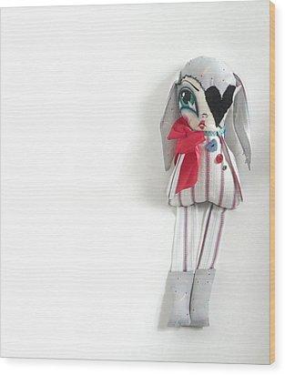 Frankie Wood Print by Oddball Art Co by Lizzy Love