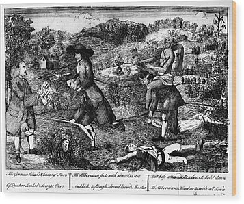 Franklin: Cartoon, 1764 Wood Print by Granger