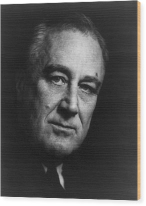 Franklin Delano Roosevelt  - President Of The United States Of America Wood Print by International  Images