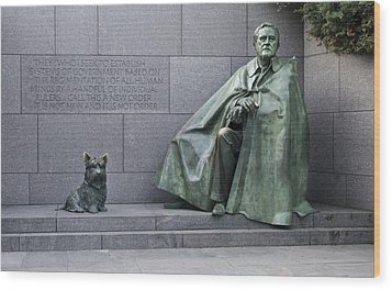 Franklin Delano Roosevelt Memorial - Washington Dc Wood Print by Brendan Reals