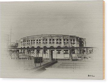 Franklin Field - University Of Penn Wood Print by Bill Cannon