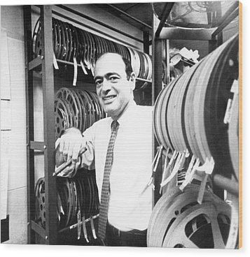 Fred Freed In The 1960s Wood Print by Everett