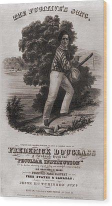 Frederick Douglass 1818-1895 Wood Print by Everett