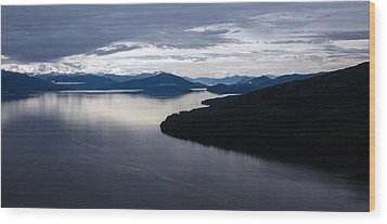 Frederick Sound Morning Wood Print by Mike Reid