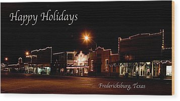 Fredericksburg Lights Wood Print