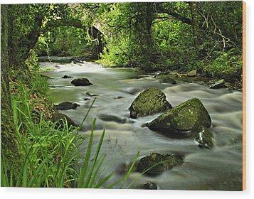 Free Flow Wood Print