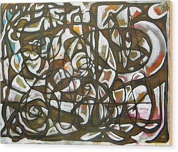Freedom  012 Wood Print by Omar Sangiovanni