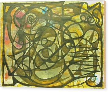 Freedom 018 Wood Print by Omar Sangiovanni