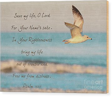 Freedom Flight Wood Print by Constance Woods