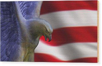 Freedom Flyer Wood Print by Anthony Citro
