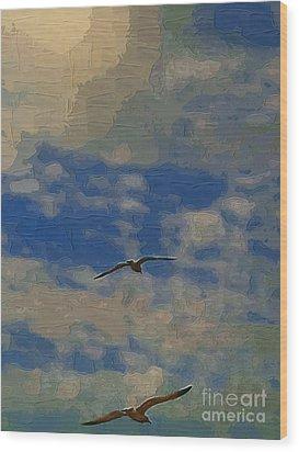 Freedom Flying Wood Print by Deborah MacQuarrie-Selib