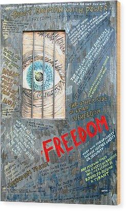 Freedom Wood Print by Ian  MacDonald