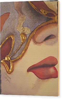 Freedom Mask Wood Print by Teresa Beyer