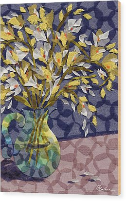 Freesia Wood Print by Marina Gershman