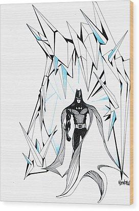 Freeze Wood Print by Kendrew Black