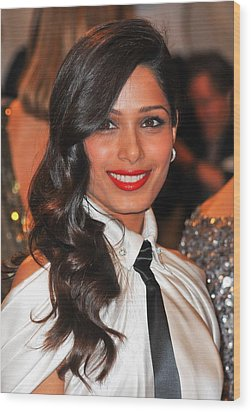 Freida Pinto At Arrivals For Alexander Wood Print by Everett