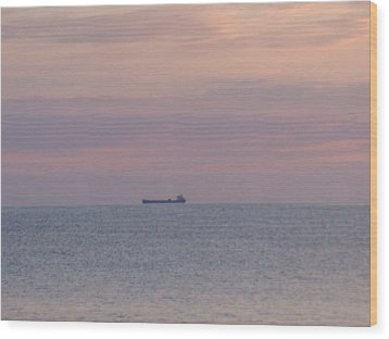 Wood Print featuring the photograph Freighter by Bonfire Photography