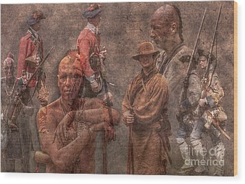French And Indian War 1754 - 1763 Wood Print by Randy Steele