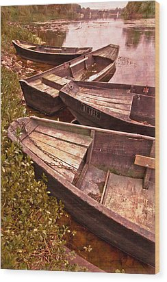 French Antiques Wood Print by Debra and Dave Vanderlaan