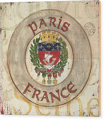 French Coat Of Arms Wood Print by Debbie DeWitt