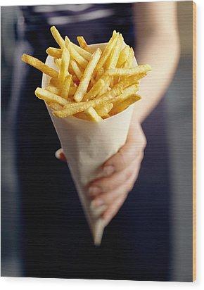 French Fries Wood Print by David Munns