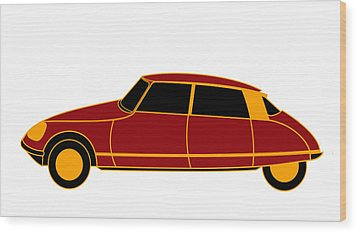 French Iconic Car - Virtual Car Wood Print by Asbjorn Lonvig