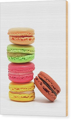 French Macaroons Wood Print by Ursula Alter