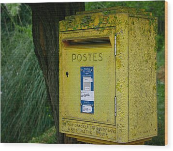 French Mailbox Wood Print by Georgia Fowler