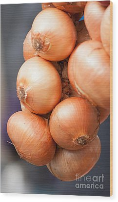 Wood Print featuring the photograph French Onions by Andrew  Michael