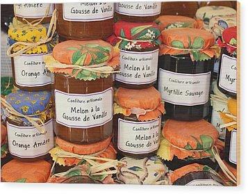 French Preserves Wood Print by Yvonne Ayoub
