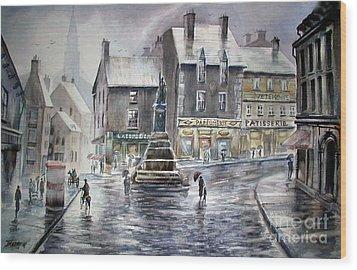 French Rain Wood Print