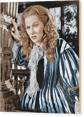 Frenchmans Creek, Joan Fontaine, 1944 Wood Print by Everett