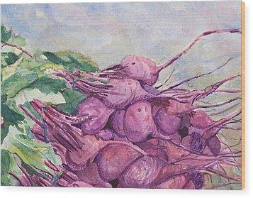 Fresh Beets Wood Print by Barbara McGeachen