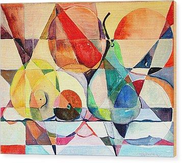 Fresh Fruit Wood Print by Mindy Newman