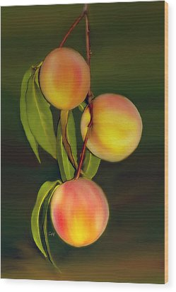 Wood Print featuring the photograph Fresh Fruit by Sami Martin