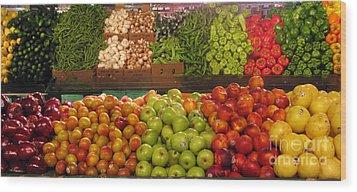 Fresh Market Series. Bounty. Wood Print by Ausra Huntington nee Paulauskaite