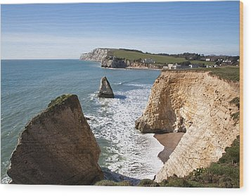 Freshwater Bay Wood Print by Shirley Mitchell